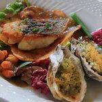 Don Federico - 黒鯛のソテーと牡蠣のオーブン焼き
