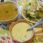 ボアタイ - ランチのサラダ、スープ、タピオカ