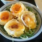 丸亀製麺 - 天卵掛けご飯350円