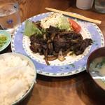 かき川 - 牛肉しょうが焼き定食