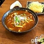 魚眞 - カレーうどんセット(自家製コロッケ・お新香・半ライス)