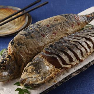 敦賀伝統の焼き物鯖のへしこ!