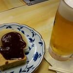 62695857 - おでん(厚揚げ、大根)&生ビール