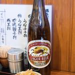 62697518 - 2017.2 ビール大 ラガー(600円)と無料のお通し