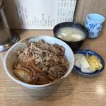 なんどき屋 - 牛めしセット(580円)