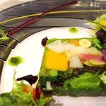四間道レストランMATSUURA - 農園野菜のテリーヌ、スペシャリテ