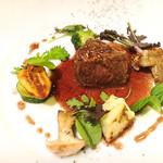 四間道レストランMATSUURA - 鹿のポアレ、アロゼの作業がシッカリしてしっとりした味わい