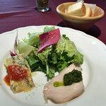 ボーン グランデ アリア - ランチの小さな前菜サラダ