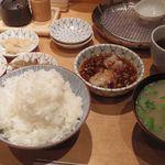天ぷらめし 金子半之助  - ごはん、味噌汁
