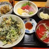 三ツ木 - 料理写真:あさり丼刺身付き\1600(17-02)