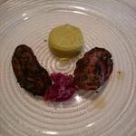 ラ・ブランシュ - 前菜1 牡蠣の黒焼き