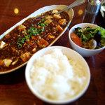 遊菜 - 料理写真:マーボドーフ山椒風味セット880円