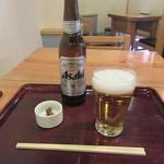 62710837 - ビール小瓶・蕎麦味噌