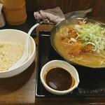 62712439 - 味噌カツらーめん+半チャーハンセット