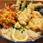 釜たけ流 うめだ製麺所 - 鶏野菜天ぶっかけ  930円
