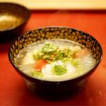 本湖月 - 虎魚の椀物
