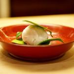 本湖月 - 金柑と小豆の和菓子