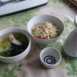 チョムパイ - 2016/10/28 11:30訪問 熱燗、 スープ&サラダ
