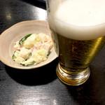 桜橋深川 - まずはビール