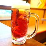 62722786 - 赤しそビール、うめぇ♡