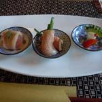 エンガワ カフェ&スペース - 三種の小鉢