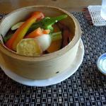 エンガワ カフェ&スペース - 地物の野菜蒸し