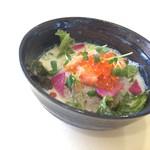 和食カフェ 風瑠 - サーモンとイクラの胡麻豆乳茶漬け