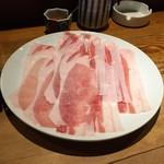 まにん - 黒豚しゃぶすきランチ(2,000円)ロース+バラ100g