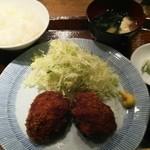 宮崎焼酎酒場ひなた - メンチカツ定食 780円