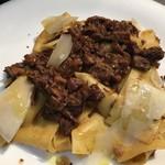トラットリアプレッツァ - 京都丹波産 猪肉のラグーパッパルデッレ