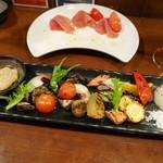 チャコール バルジュ - 秋保大滝有機野菜の炭火焼盛り合わせ