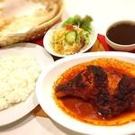 ◆タンドリーチキンセット Tandoori chicken lunch