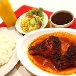 ◆タンドリーチキンセット Tandoori chicken set