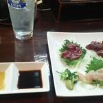 串太郎 - 造り三種盛り チューハイ 枝豆