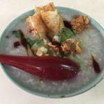 台湾風粥専門店 阿里 - 鶏粥+半皮蛋