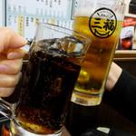 三福 - 生ビール中480円、コーラ250円