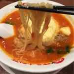 太陽のトマト麺Next - 麺は細麺