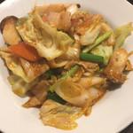 あいらくてい - 豚肉とキムチピリ辛炒め定食 ¥720 の豚肉とキムチピリ辛炒め
