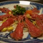 池田 銀なべ - 牛肉のタタキ