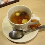 Kado-no-Casshiwa - お通しにスープ