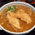 62762776 - 牡蠣天カレー蕎麦 1,550円也(2017年2月)