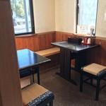 賀茂川 - 入って左側2テーブル