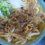 賀茂川 - 大盛肉うどん(普通盛の2倍)650円