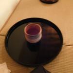 62764741 - 待合の時に出された、カボスのはちみつ茶