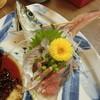 謙徳蕎麦 - 料理写真:【寄り道セット】の「活あじ」