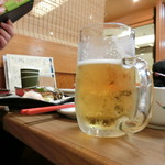 謙徳蕎麦 - 【寄り道セット】の生ビール
