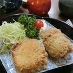 謙徳蕎麦 - 【寄り道セット】の「ソバコロッケ」