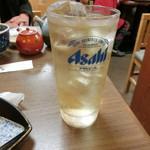 謙徳蕎麦 - スーパーニッカ水割り580円
