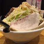 麺や 久二郎 - 野菜増し増し豚ダブル