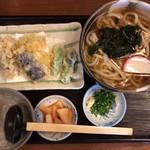 手打麺THE・うどん 大 - 野菜天ぷらうどん 880円